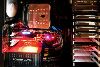 Picture of the inside of a computer