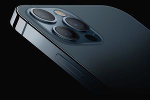 The camera system on an iPhone 12 Pro
