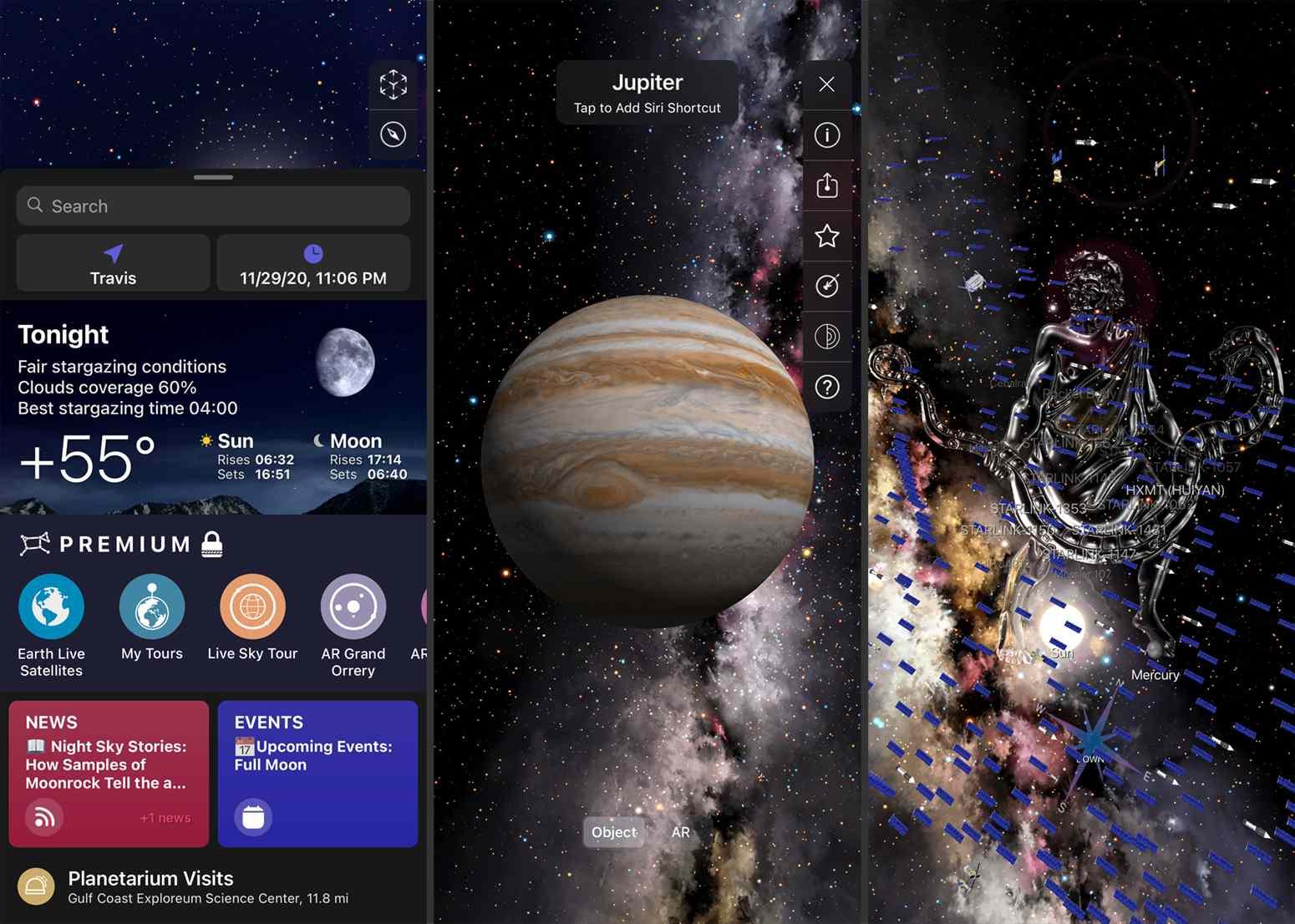 Screenshots from Night Sky.
