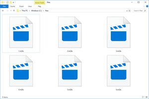 several M2TS files in Windows 10