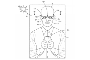 Screenshot of a head-mounted device from an Apple patent