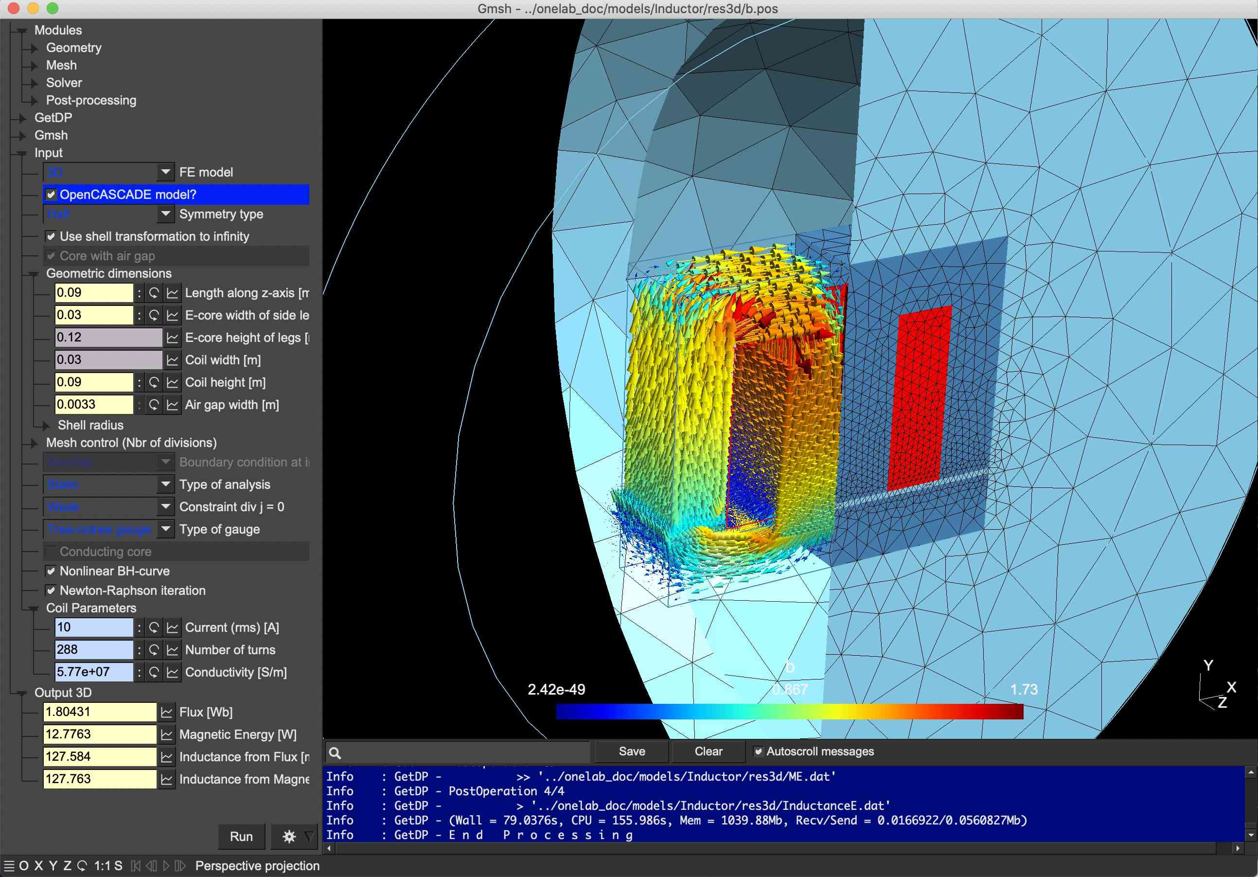 Gmsh open-source STL viewer and modeling software