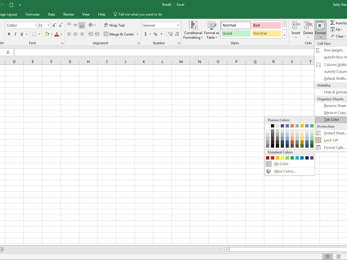 cursor locked in cell excel