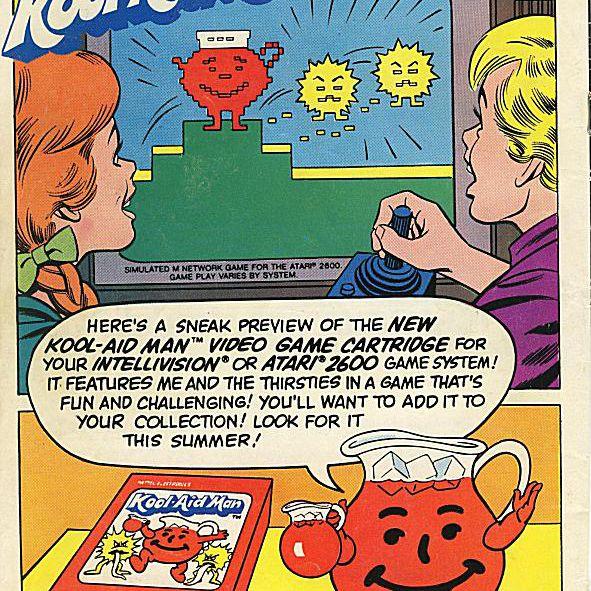 Kool-Aid Man video game advertisement