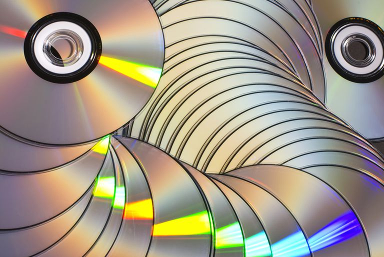 Pile of cd or dvd disks