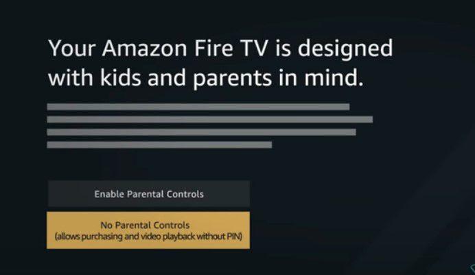 Parental controls - Amazon Fire TV stick