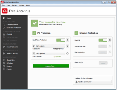 avast free antivirus for windows 7 starter