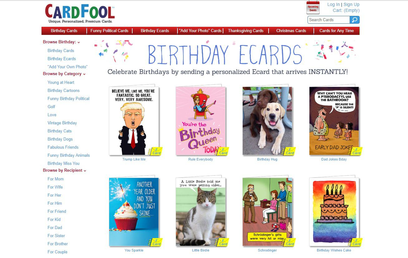 CardFool Birthday E Cards Screenshot