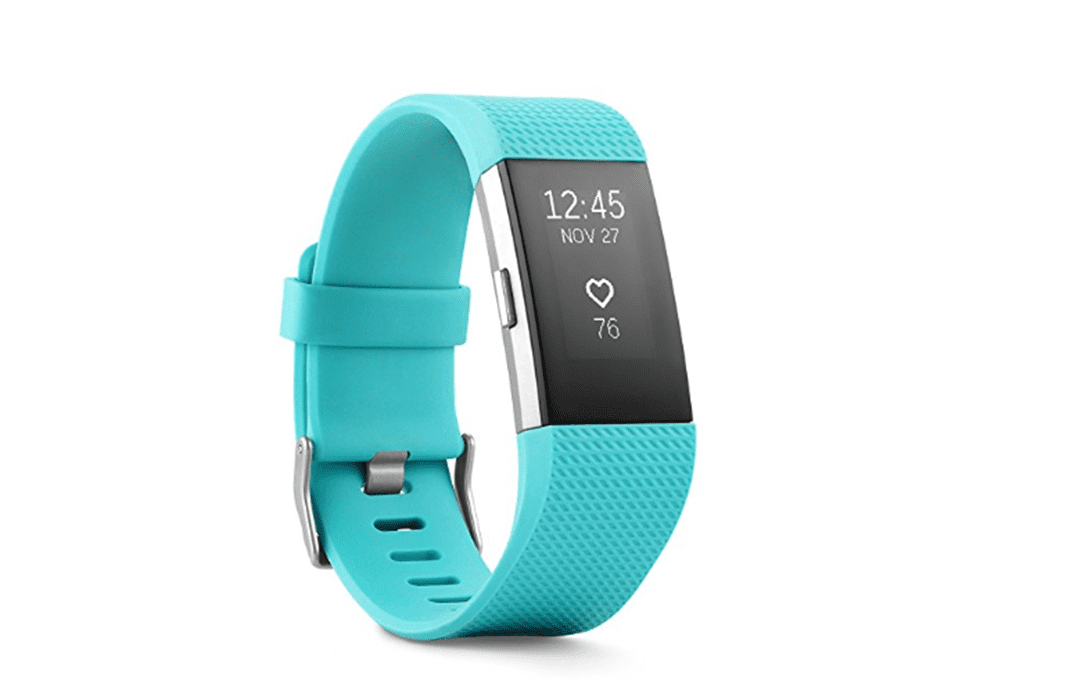 An image fo the Fitbit Charge 2 which has heart rate monitoring capabilities.