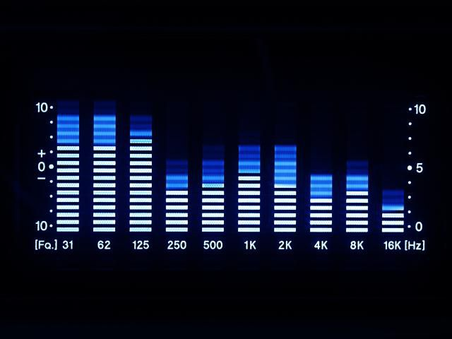 Bars of a graphic equalizer