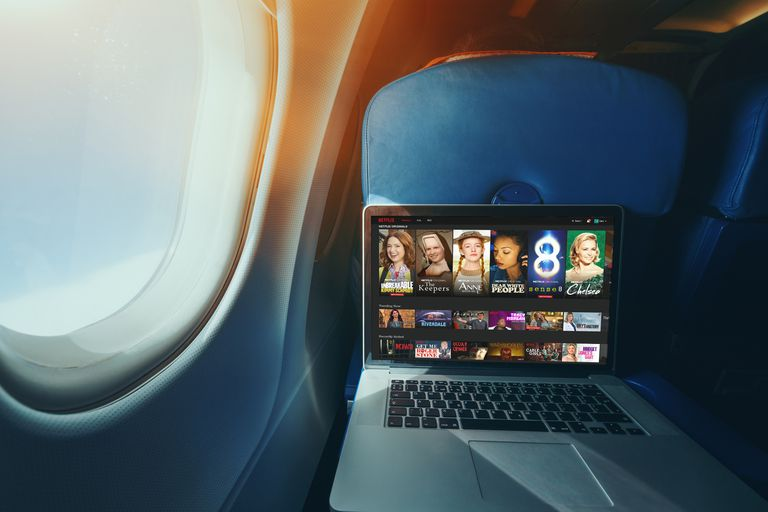 Netflix on an airplane