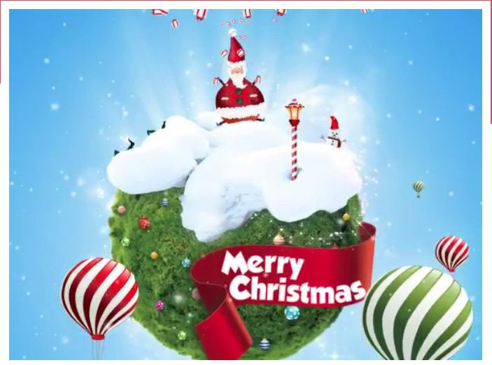 Merry Christmas Santa and Elves free Christmas e-card