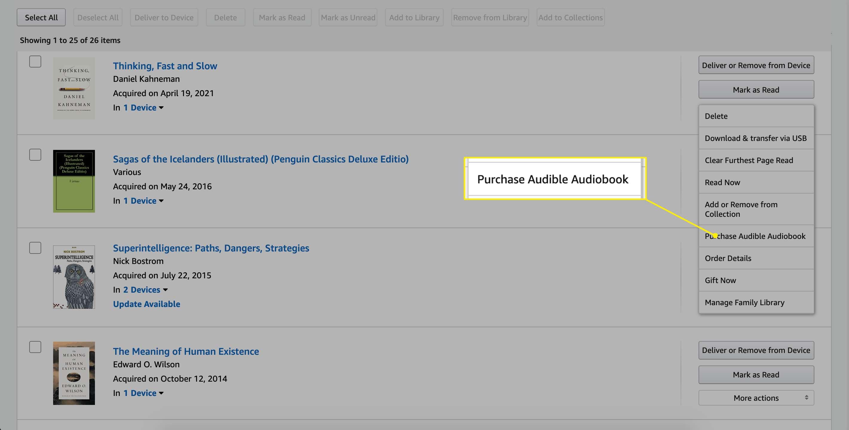 Amazon Purchase Audible Audiobook