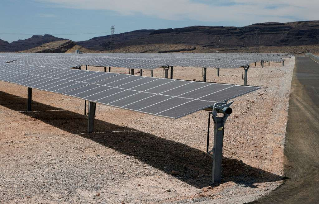 A solar array in Dry Lake Valley, Nevada.