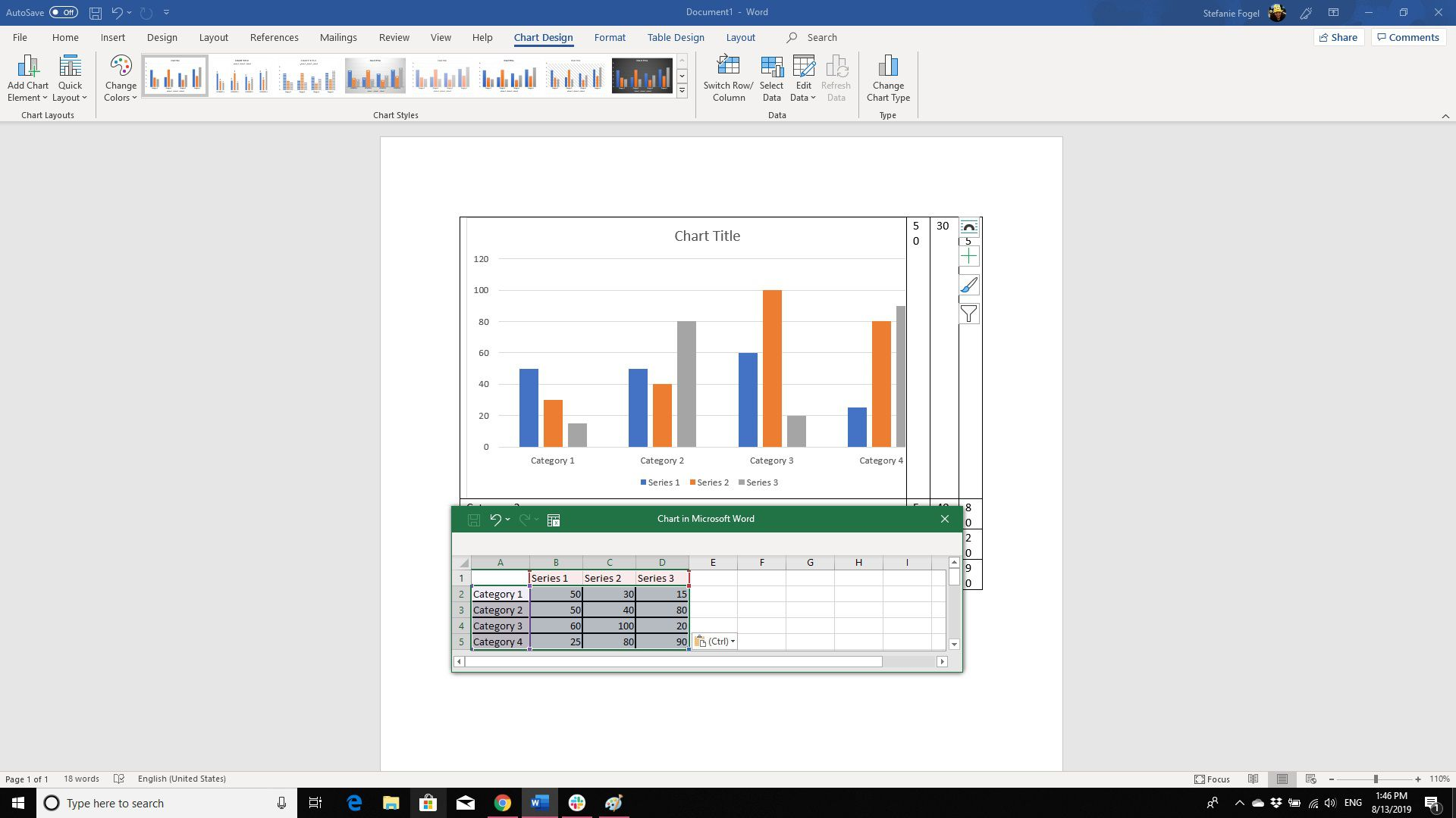 Creating Charts and Graphs From Table Data