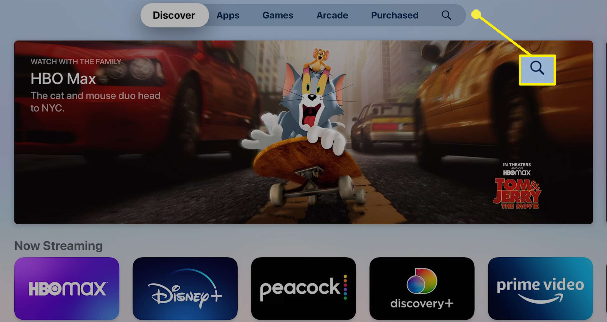 Downloading Peacock on an Apple TV.