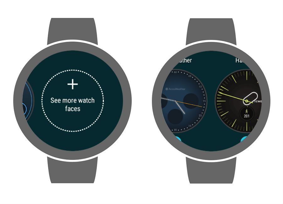 Change watch faces in Wear OS 2.0.