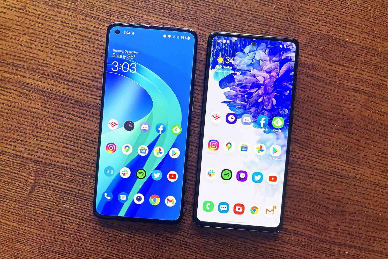 OnePlus 8T vs. Samsung Galaxy S20 FE 5G