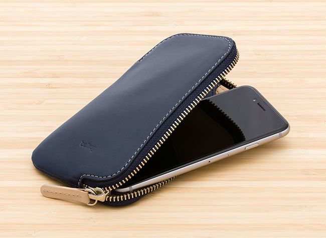 The Bellroy Phone Pocket i6 provides extra carrying space and protection for your smartphone