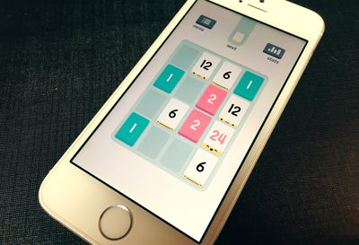 Puzzle game on an iPhone