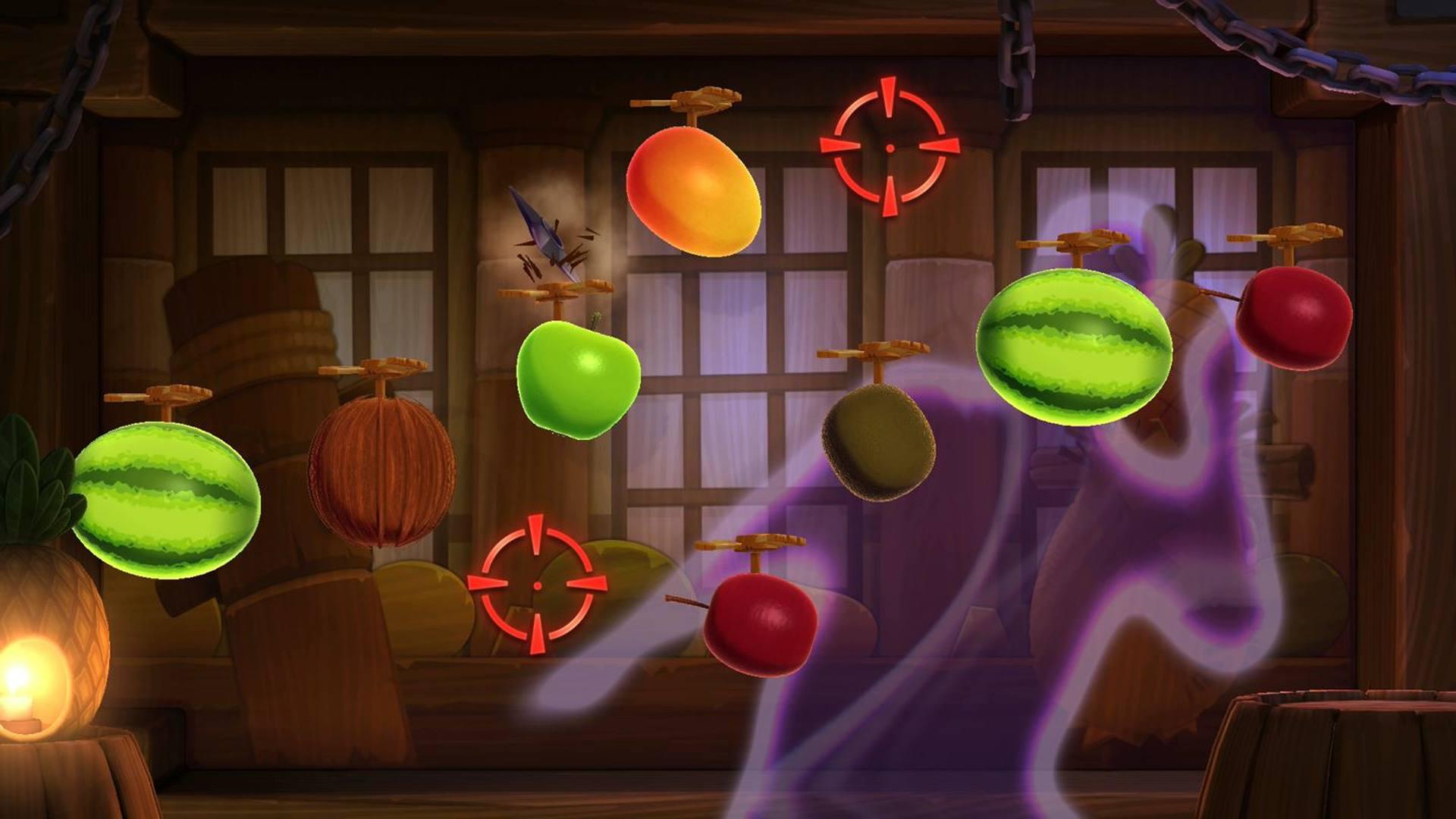 Fruit Ninja Kinect 2 offline video game for kids.