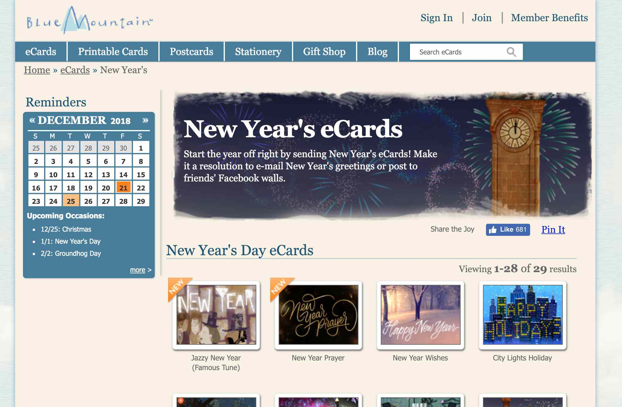 Blue Mountain website