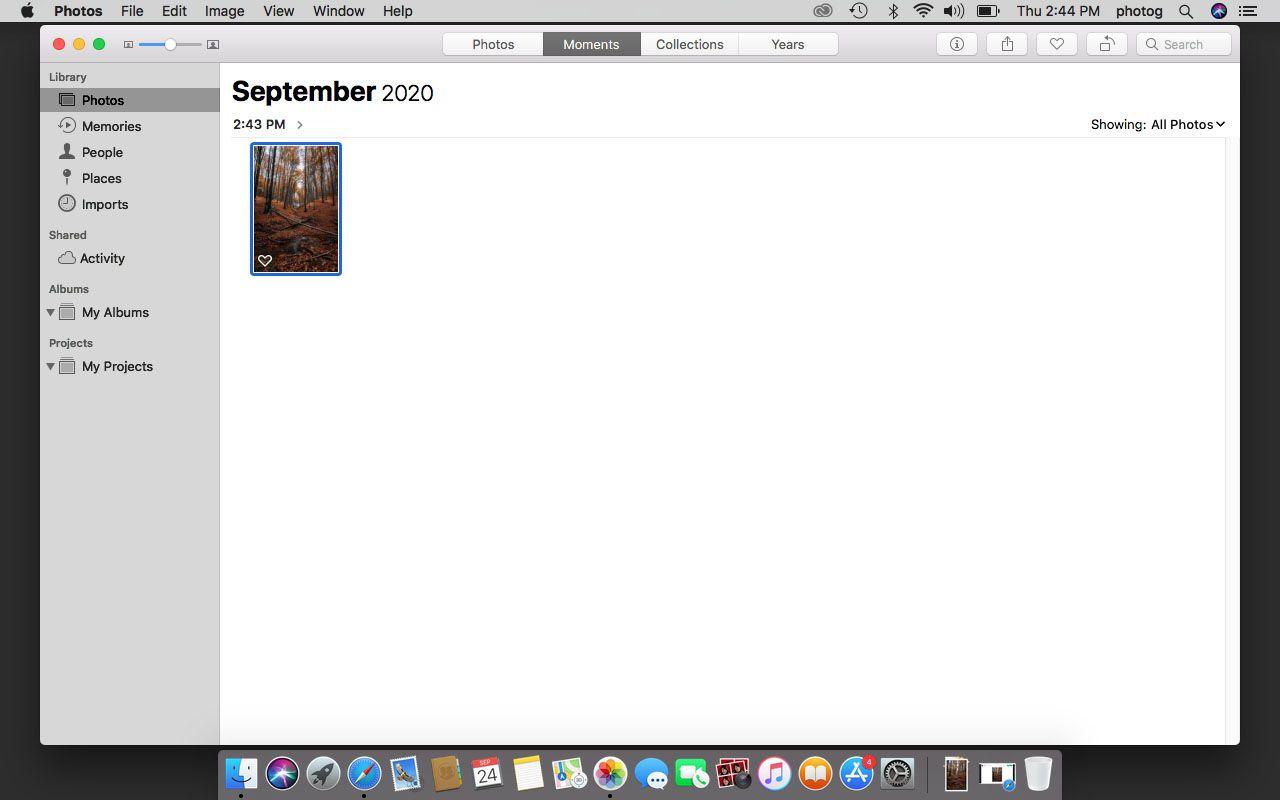 Photos in macOS.