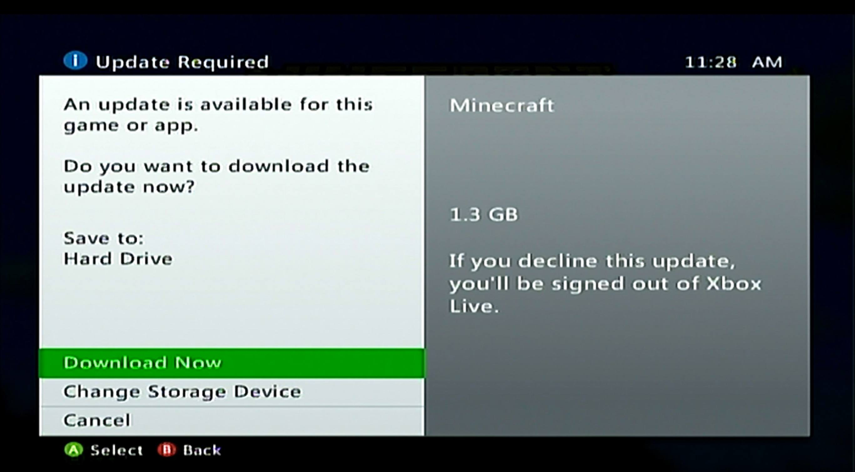 How to Update Minecraft on Xbox 360