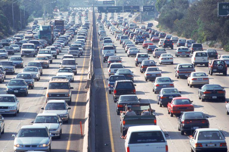 Freeway traffic, Los Angeles, CA