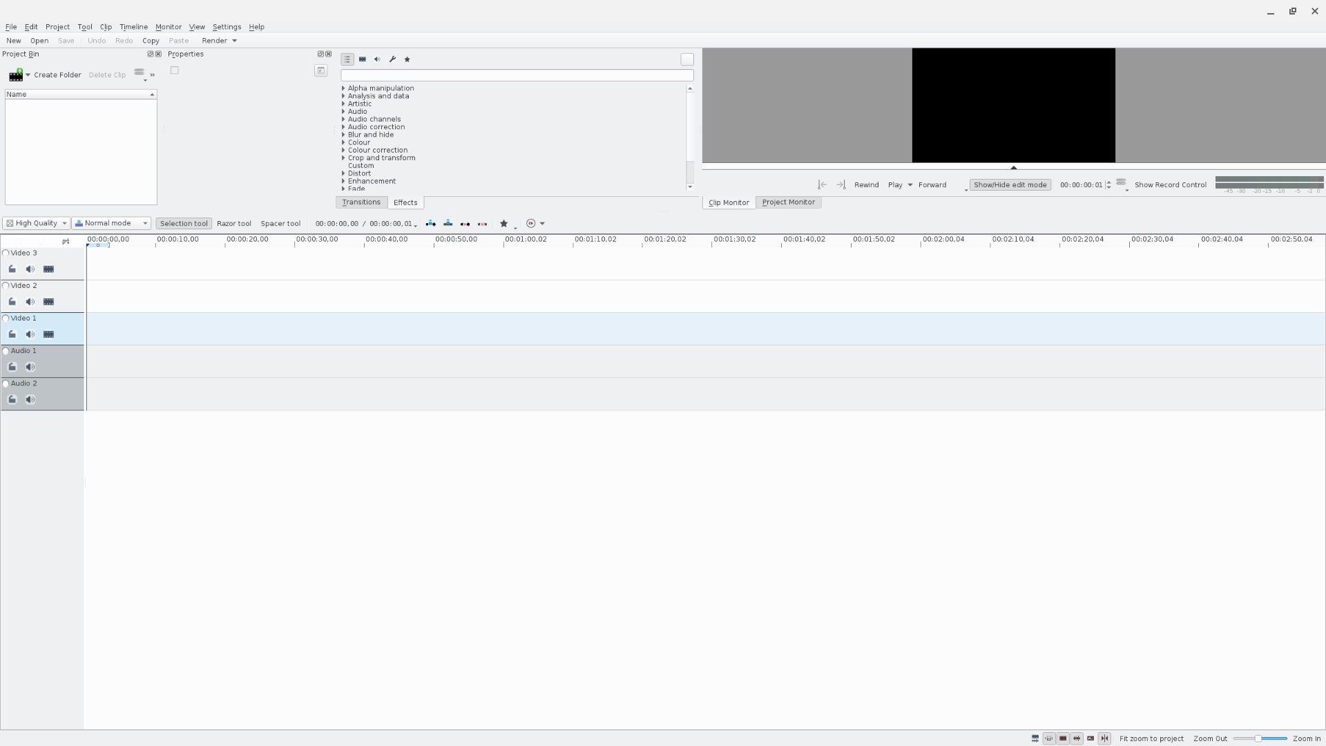 Kdenlive video editor on Linux for Chromebook