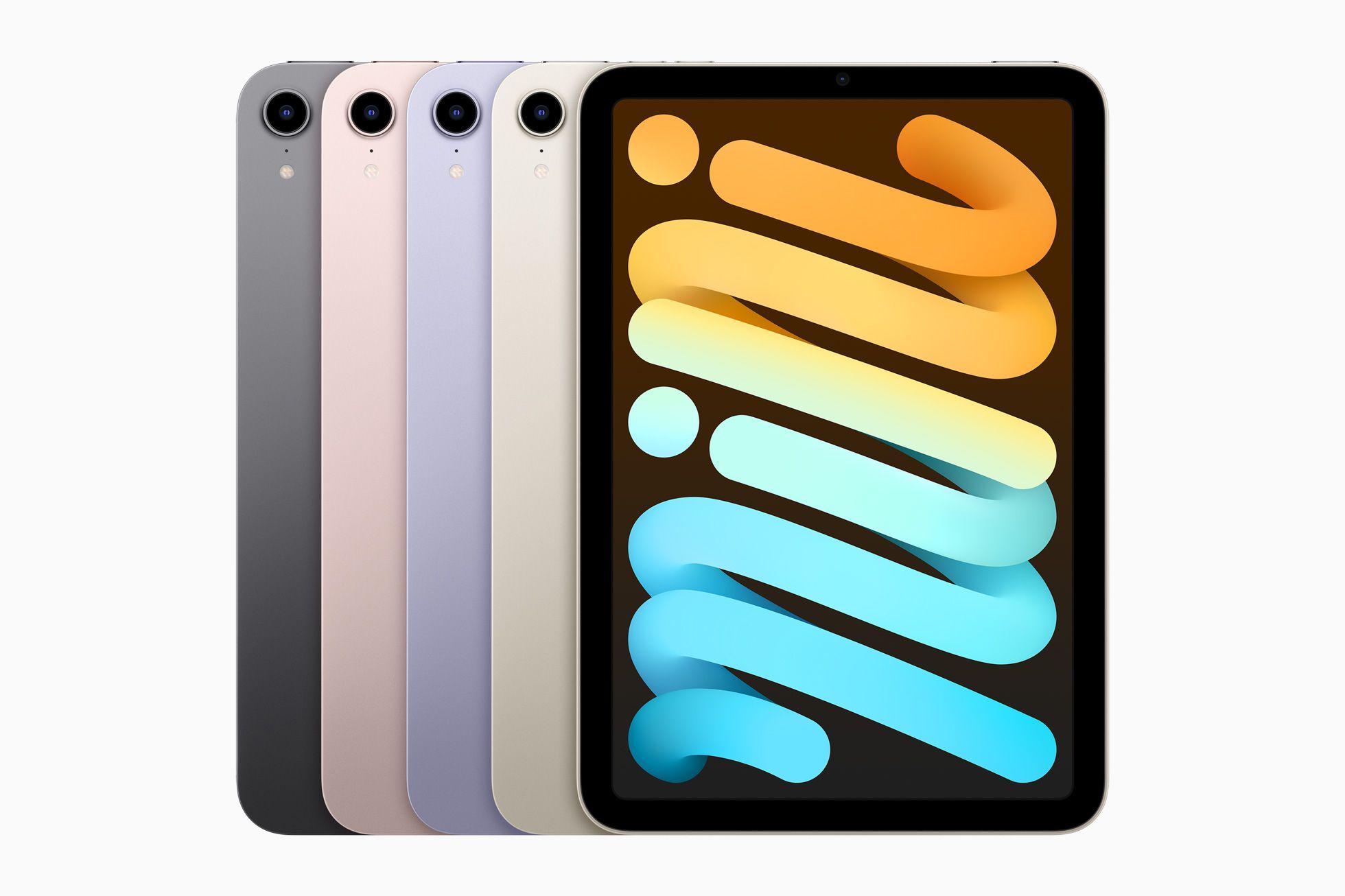new iPad mini in various colors