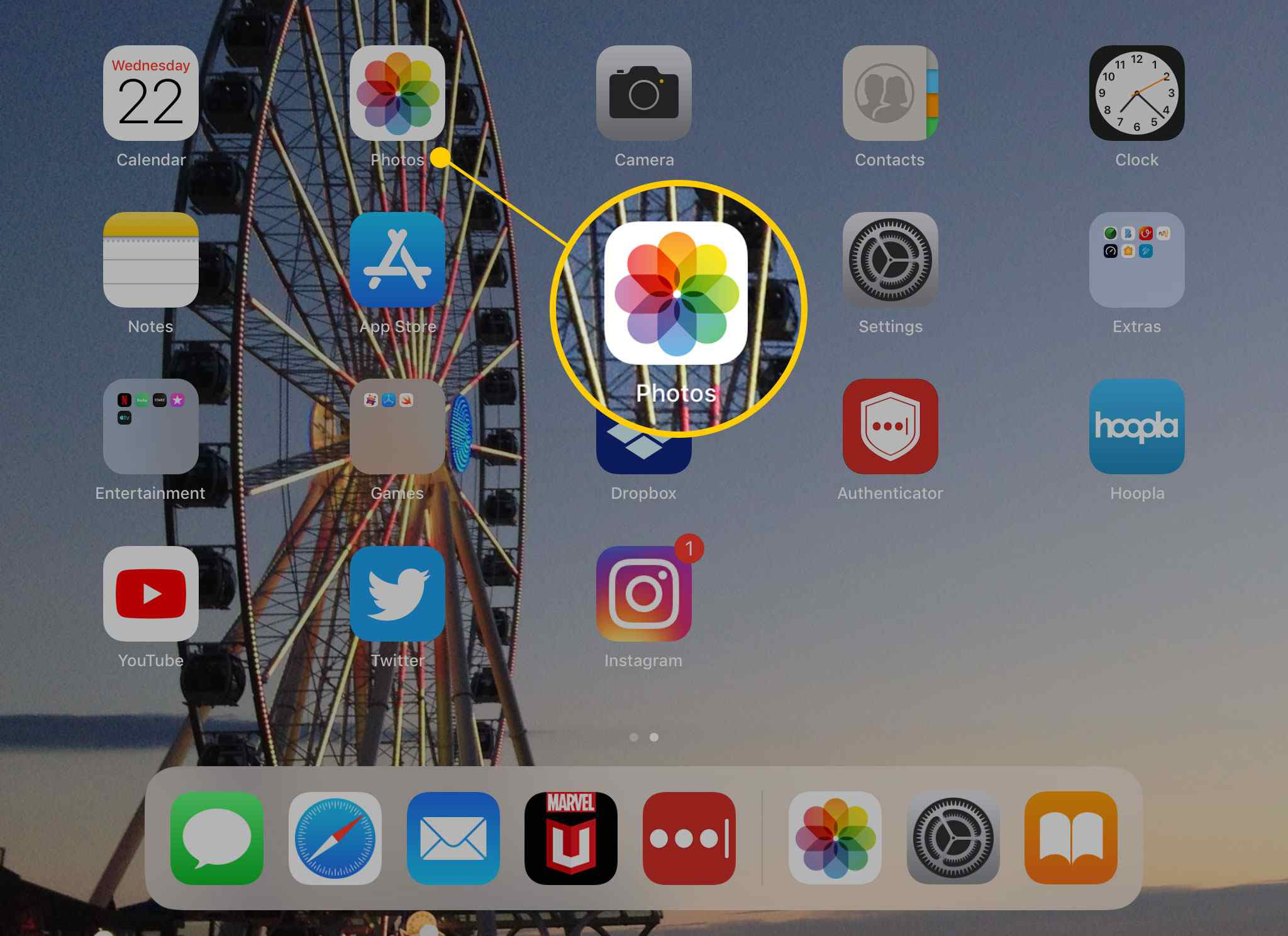 Photos app on iPad