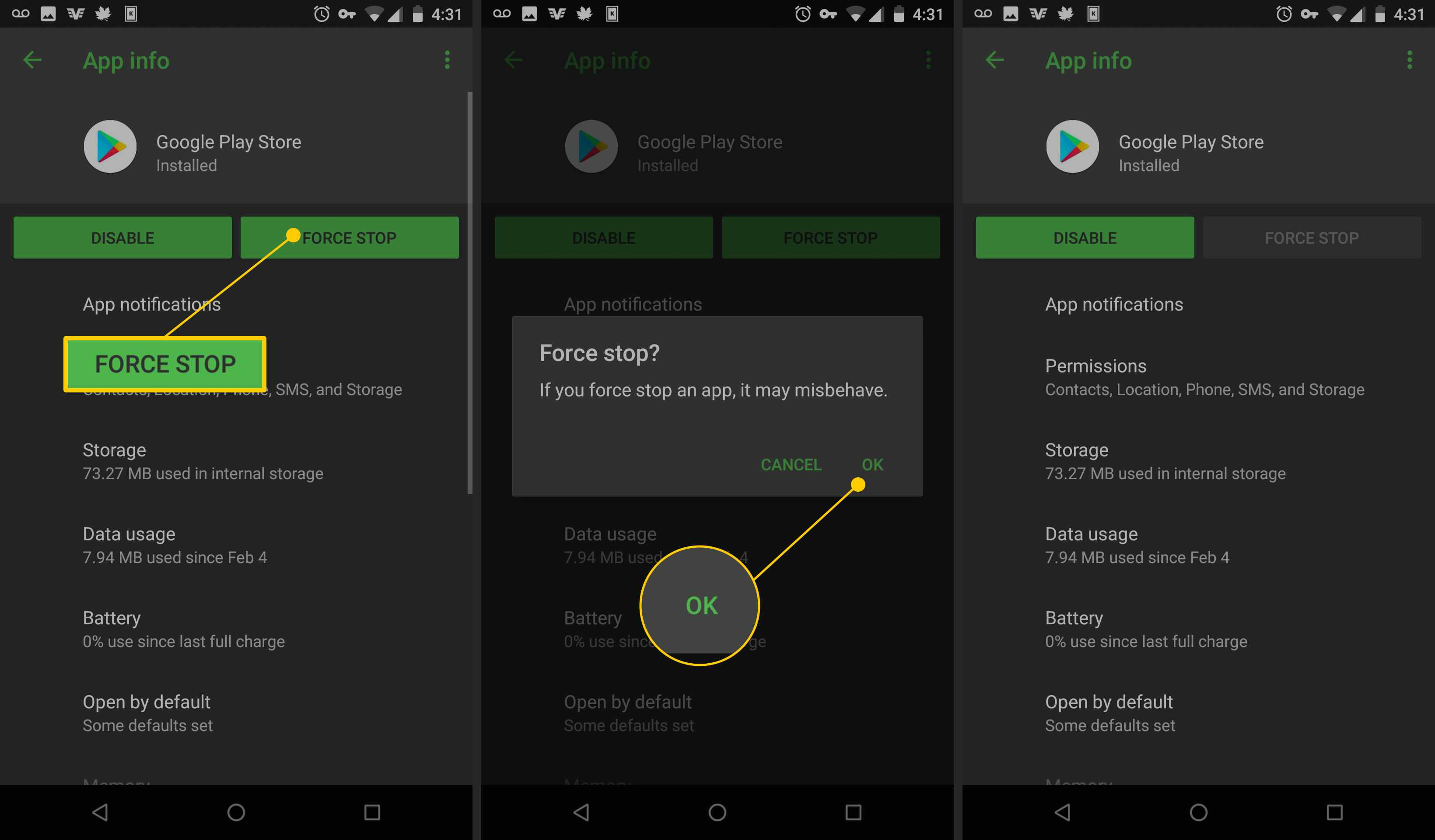 How to Cancel a Frozen App Download on Android