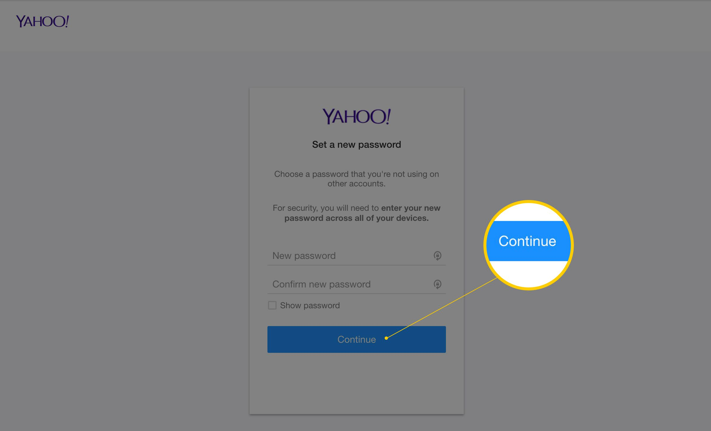 how to change password in yahoo mail in desktop