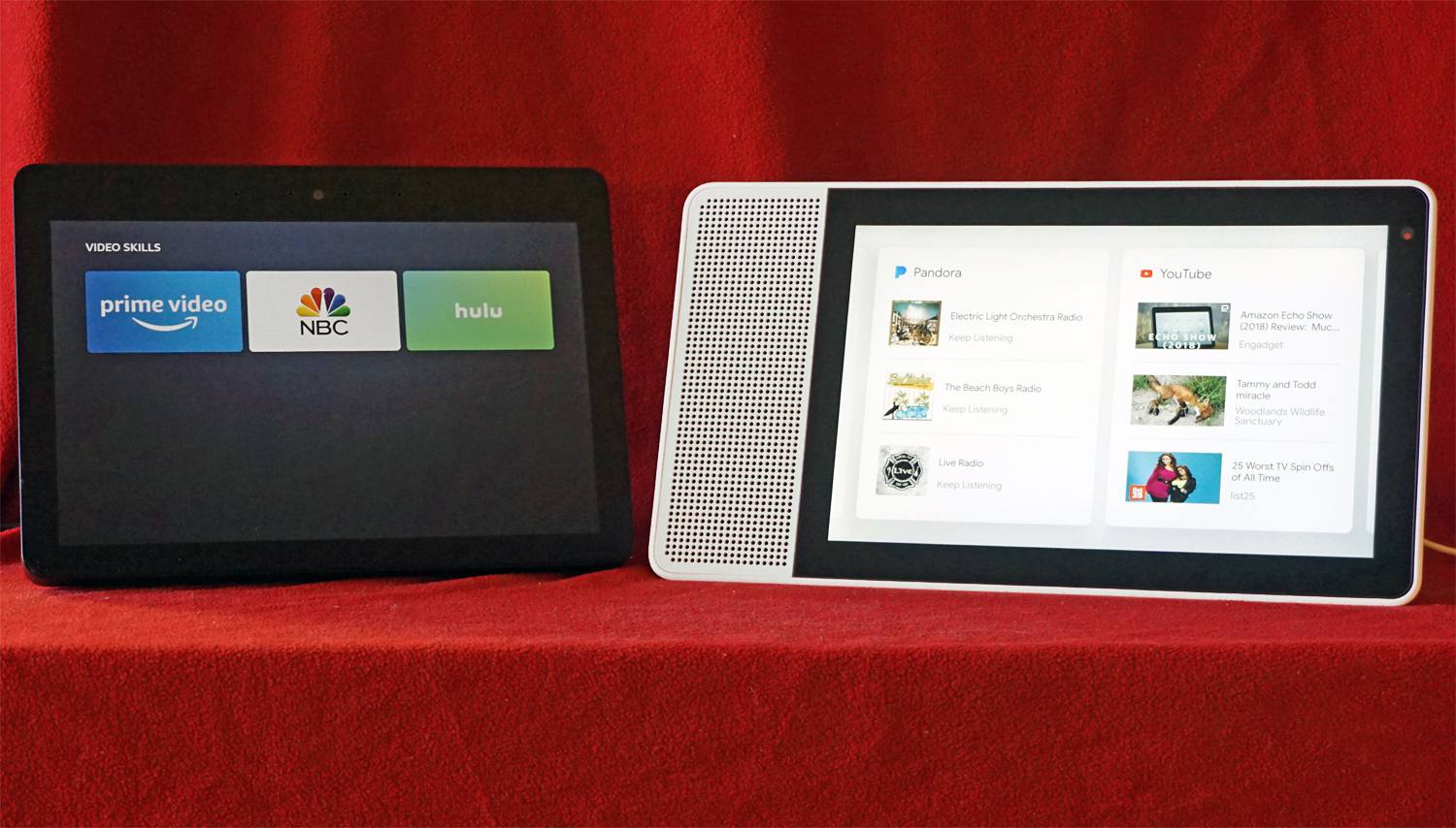 Amazon Echo Show and Lenovo Smart Display — Streaming Services