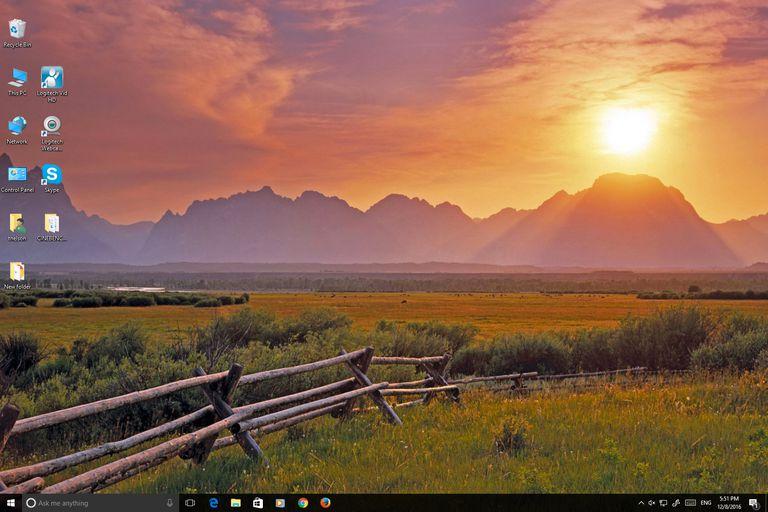 Windows 10 running on an iMac