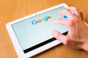 using google on a tablet