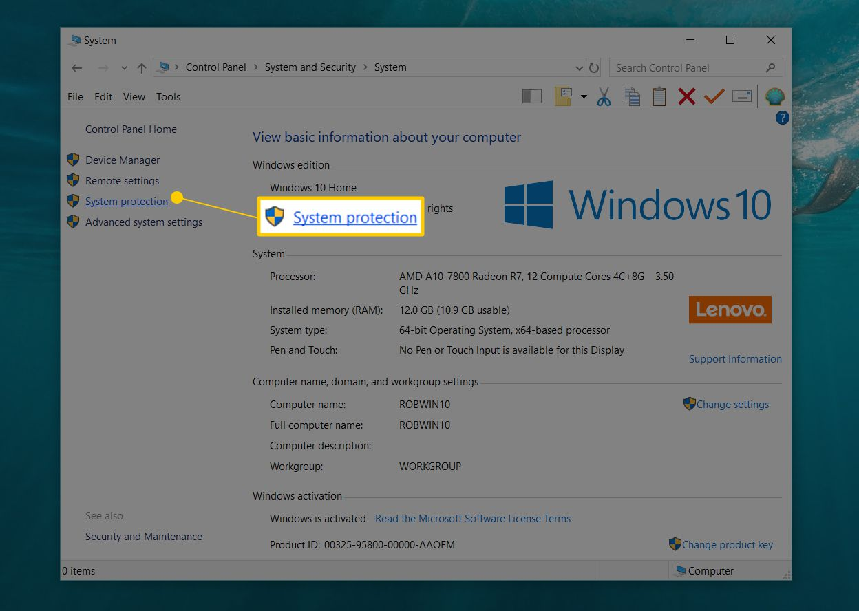 How to Use System Restore (Windows 10, 8, 7, Vista, XP)