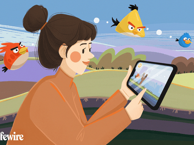 Person playing Angry Birds on their tablet