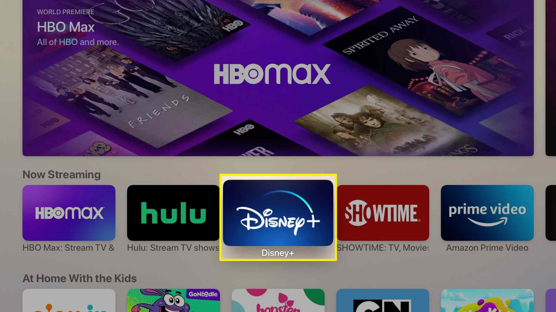 Screenshot of Apple TV app store