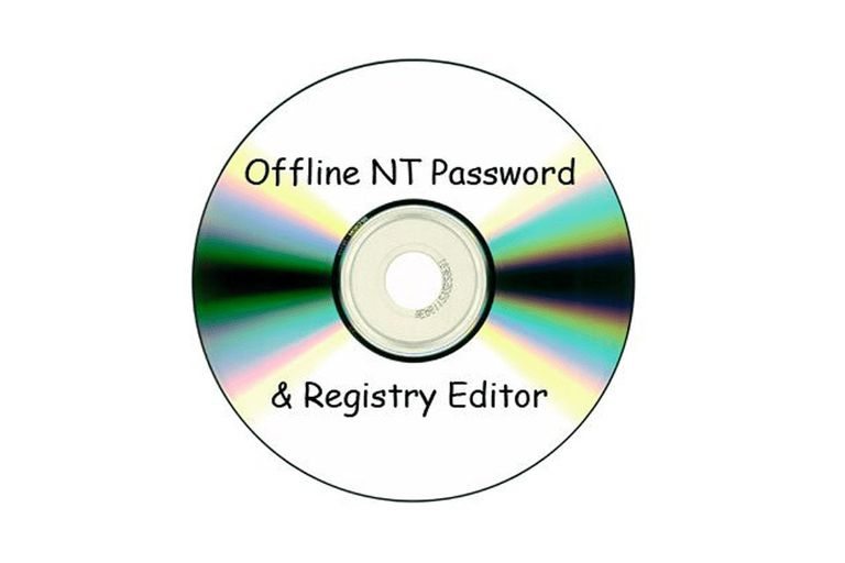 Disc that reads Offline NT Password & Registry Editor