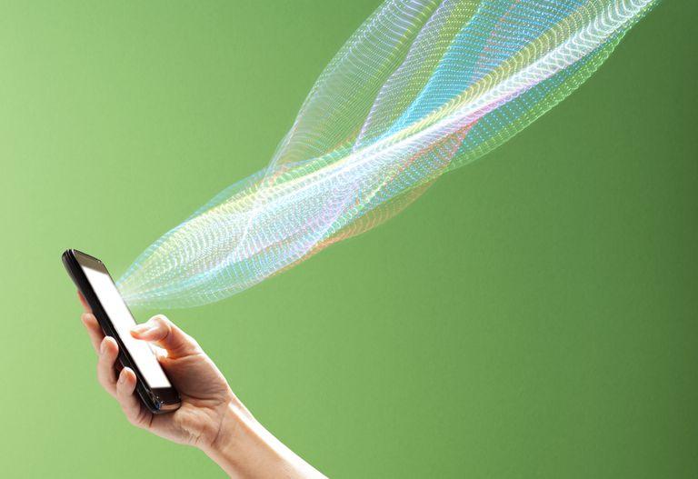 Smart phone transmitting data