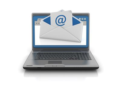 Computer Laptop with Web Browser and Email Envelope - 3D Rendering