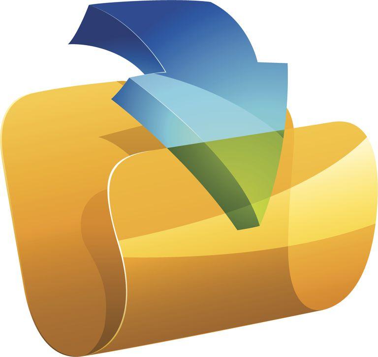 Download arrow into folder