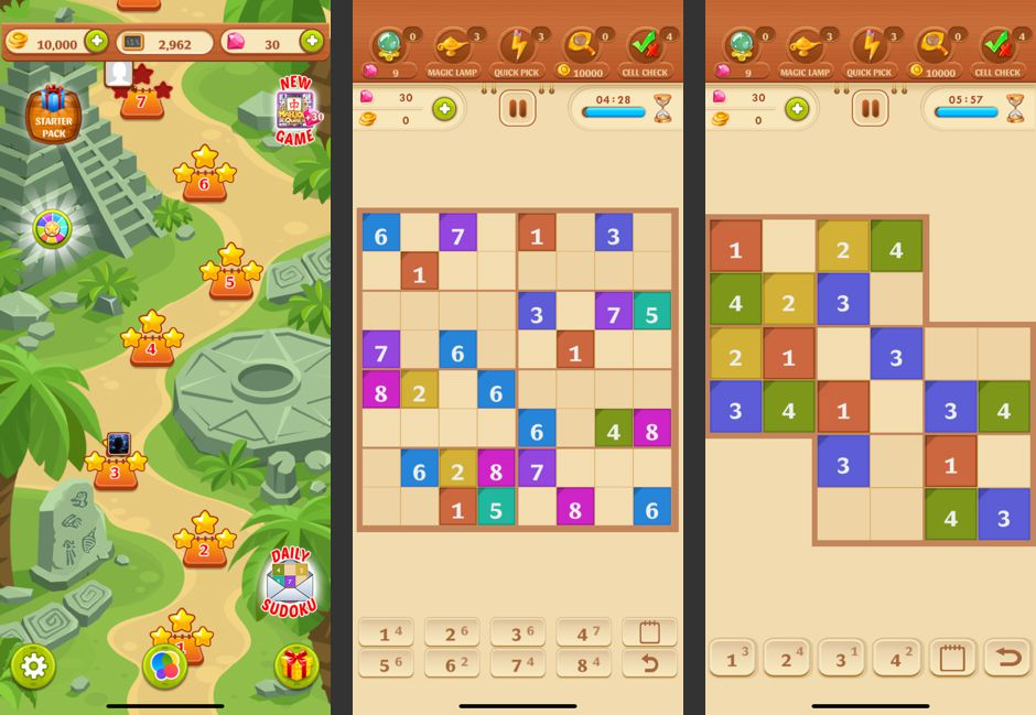 A level and puzzles from Sudoku Quest for iOS.