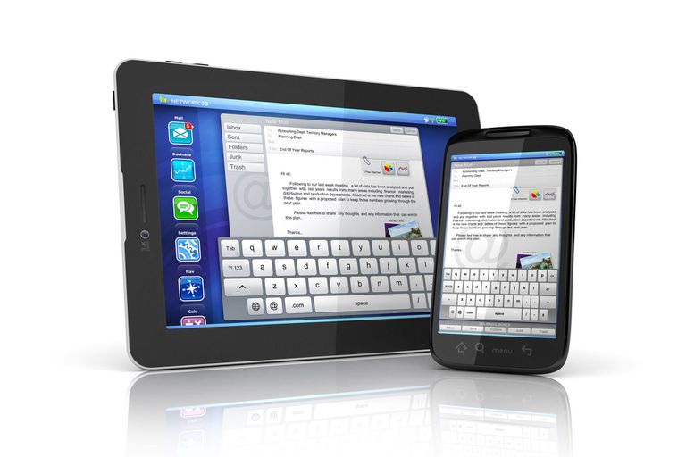 Email on tablet and phone