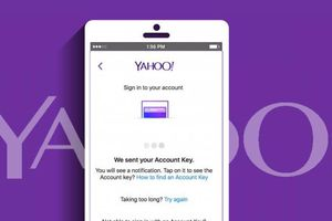 Yahoo promo art of Mail on a smartphone