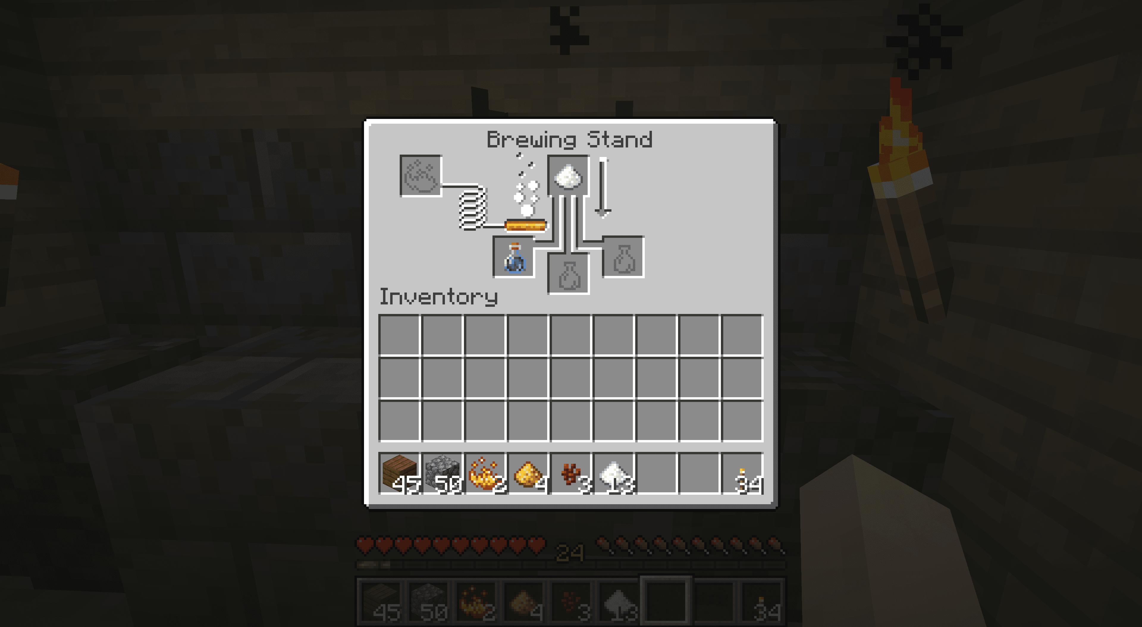 Brewing in Minecraft.