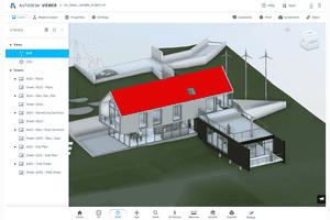 Screenshot of an RVT file open in Autodesk Viewer