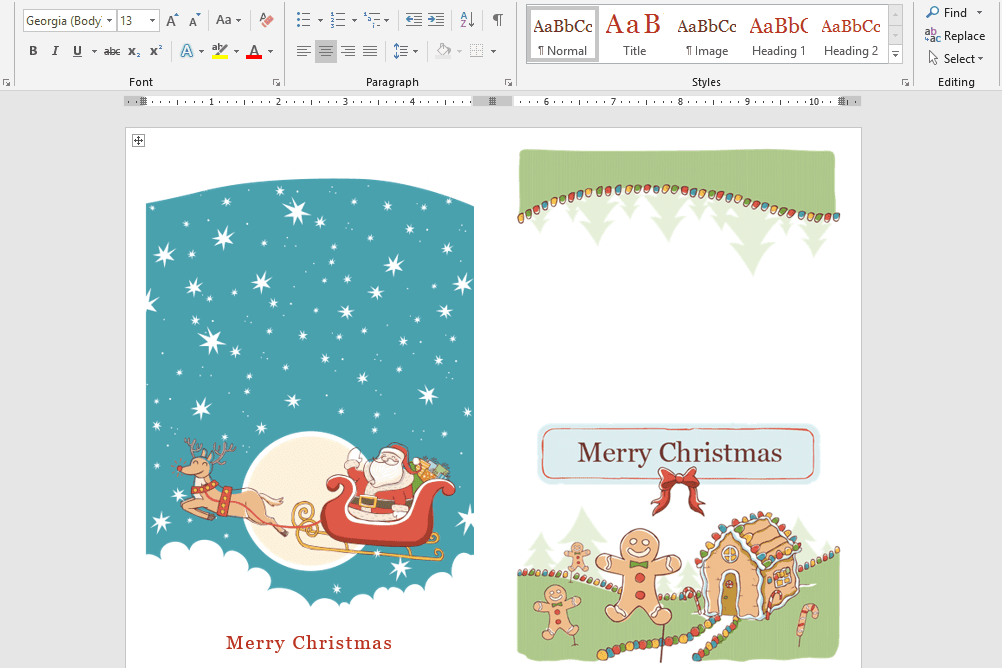 Microsoft\'s Best Free DIY Christmas Templates for 2018